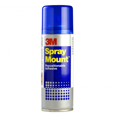 Repositionable spray adhesive SPRAY MOUNT > Adhesives and