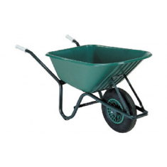 Green polypropylene wheelbarrow 100 ltrs.TK100-C100