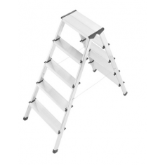 HAILO 90 Aluminium safety double-sided ladder for climbing on ei