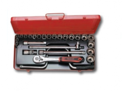"7688.S720M Socket set 26 pieces 1/2"" in drive"