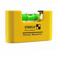 Plastic mini-format spirit level POCKET MAGNETIC