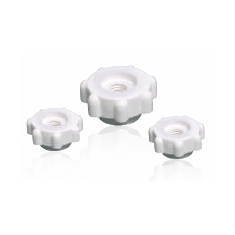 Knurled nuts, flat form, rough knurling